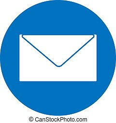 E-mail symbol. Email icon. Flat vector graphic illustration isolated