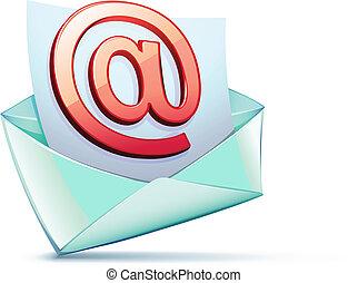 e-mail symbol - Vector illustration of open envelope...