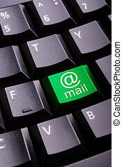 E-mail symbol on a keyboard