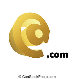 e-mail symbol - E-mail symbol over white background