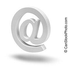 e-mail, symbole, signe, flotter, isolé