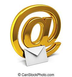 Three dimensional icon of e-mail