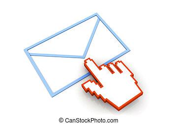 E mail with cursor