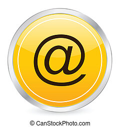 e-mail yellow circle icon
