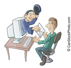 E- messenger - The virtual postman has brought the letter