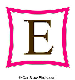E Monogram Pink & Brown