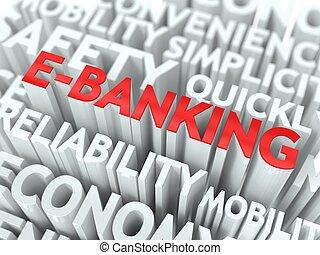 e-negócio bancário, concept.