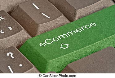 e- obchod, horký, klapka, klaviatura