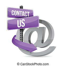e, ons, meldingsbord, contact, ontwerp, illustratie, post