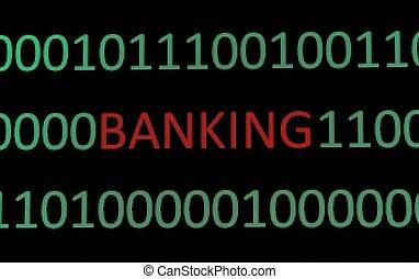 e-, operação bancária