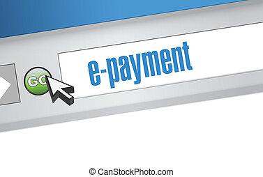 e payment browser illustration design graphic