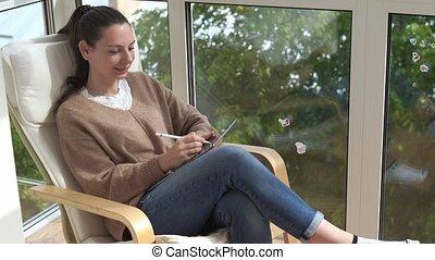 e-pencil, project., novel., écrire, tablette, fonctionnement...