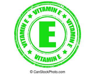 e, postzegel, vitamine
