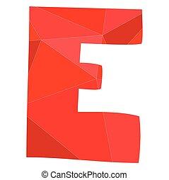 E red alphabet vector letter
