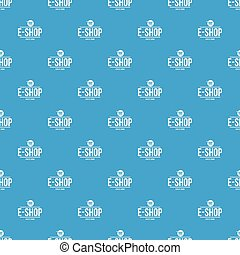 E shop pattern vector seamless blue