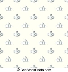 E shop pattern vector seamless
