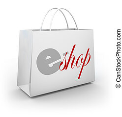 e-Shop Store Bag Buyer Customer Purchasing Products Merchandise Online