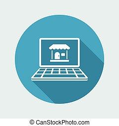 E-shop - Vector flat minimal icon