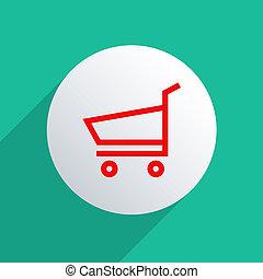 E-Shopping - Concept for e-commerce. Flat design...