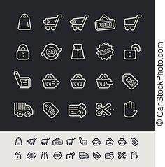 e-shopping, icônes