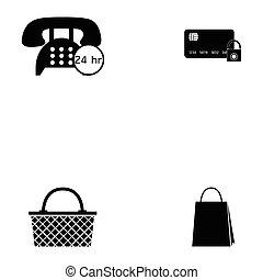 e-shopping icon set
