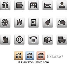 E-Shopping Icon set - Metalbox Series