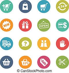 e-Shopping Icons -- Fresh Colors Se