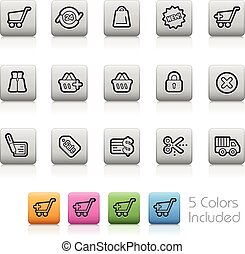 E-Shopping Icons -- Outline Button