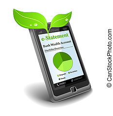 e-Statement on cell phone - save paper