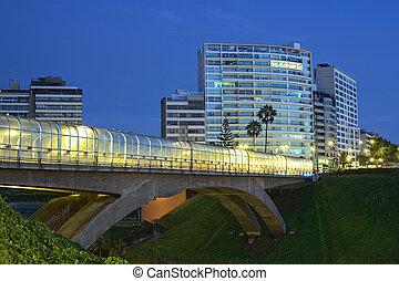 E. Villena Rey Bridge in Lima, Peru - E. Villena Rey Bridge...