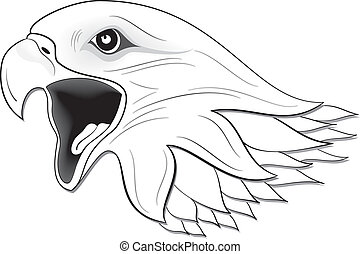 Eagle 03 - illustration vector for eagle set colored