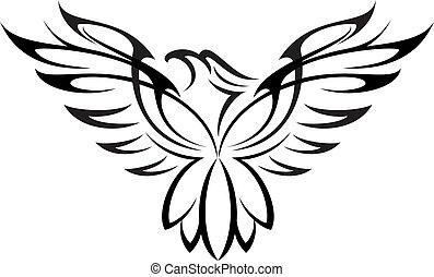 Eagle 08 - Illustration of Eagle silhouette