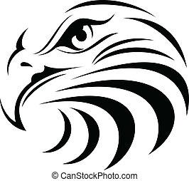 Eagle 09 - Illustration of Eagle face silhouette