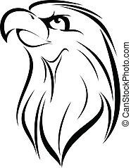 Eagle 10 - Illustration of Eagle face silhouette