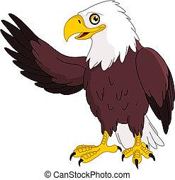American bald eagle presenting