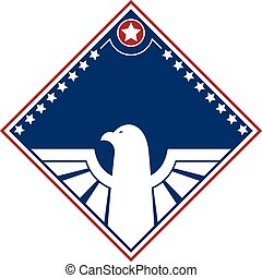 Eagle American patriotic design