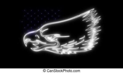 Eagle American symbol laser animation