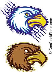 eagle and hawk head
