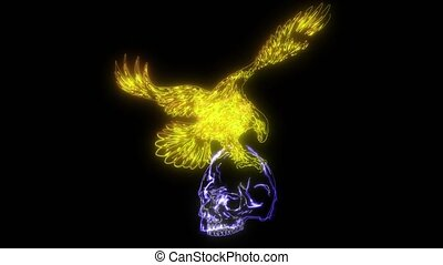 Eagle and Skull design art video - Eagle and Skull design ...