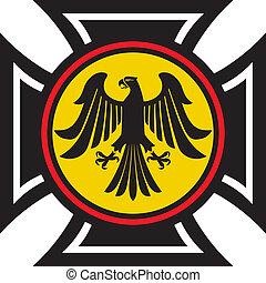 eagle and the cross (symbol, emblem)