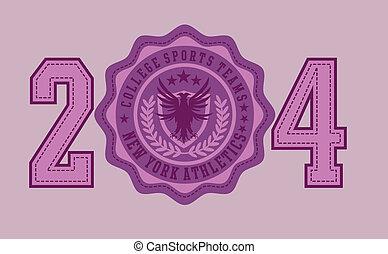 eagle badge embroidery vector art