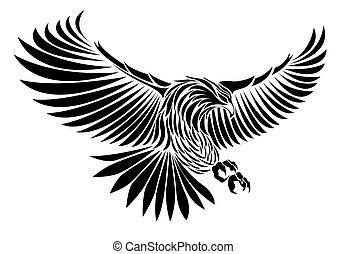Bald Eagle is flying
