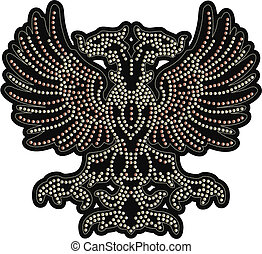 eagle beaded artwork