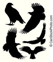 Eagle bird animal silhouettes 01.