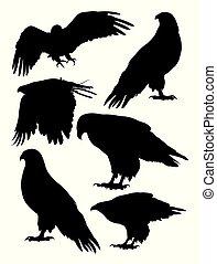 Eagle bird animal silhouettes 02.