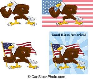 Eagle Bird Cartoon Character