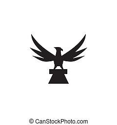 Eagle bird icon logo design vector template