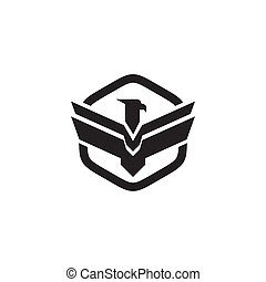 Eagle bird icon logo design vector template