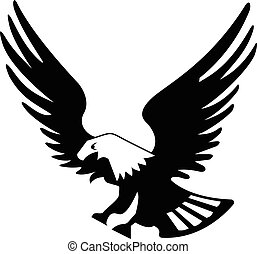 Eagle bird isolated on white backgroundicon.