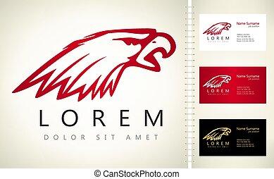 Eagle bird logo vector. Animal design.